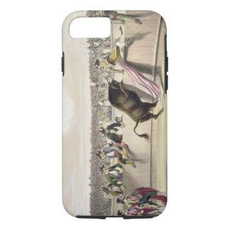 Coque iPhone 7 Taureau sautant les barrières, 1865 (litho de