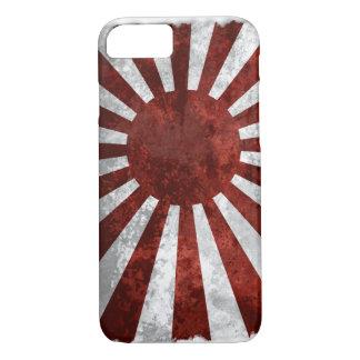 Coque iPhone 7 Terre du Japon | du drapeau de Japonais de Soleil
