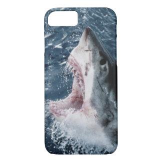 Coque iPhone 7 Tête de grand requin blanc