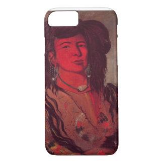 Coque iPhone 7 Tête de Kate un klaxon (huile sur la toile)