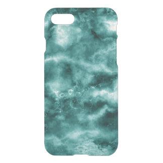 Coque iPhone 7 Texture de marbre vert-foncé