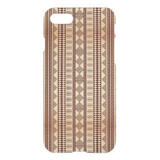 Coque iPhone 7 Texture ethnique de Brown