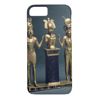 Coque iPhone 7 Triade d'Osorkon II : Osiris a flanqué d'ISIS et