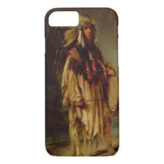Coque iPhone 7 Un Indien nord-américain dans un paysage étendu,