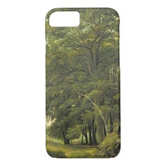 Coque iPhone 7 Un paysage boisé (huile sur le papier sur le