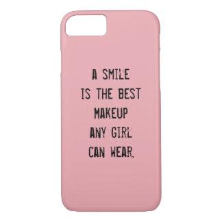 Coque iPhone 7 Un sourire est le meilleur maquillage que