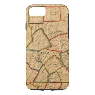 Coque iPhone 7 Une carte de l'état de la Pennsylvanie