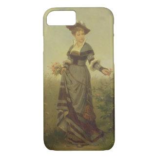 Coque iPhone 7 Une cueillette de Madame fleurit dans un paysage