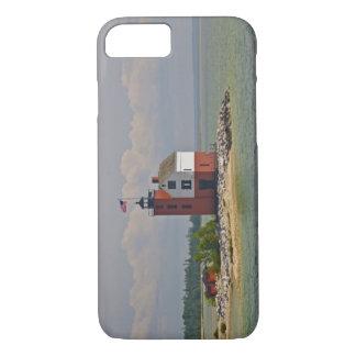Coque iPhone 7 Une vue de station ronde de lumière d'île