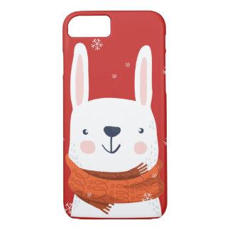 Coque iPhone 7 Vacances de lapin de neige