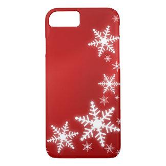 Coque iPhone 7 Vacances de rouge de flocons de neige