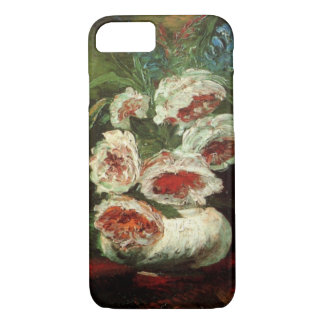 Coque iPhone 7 Vase à Van Gogh avec des pivoines, beaux-arts