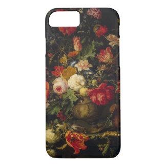 Coque iPhone 7 Vase floral vintage élégant