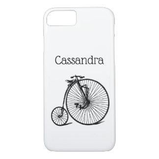 Coque iPhone 7 Vélo vintage de bicyclette de vélo sur rail de