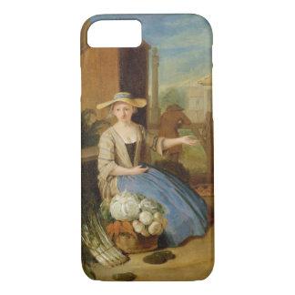Coque iPhone 7 Vendeur végétal, jardin de Covent, c.1726 (huile