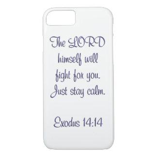 Coque iPhone 7 Vers de la couverture w/scripture de téléphone