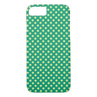 Coque iPhone 7 Vert vert avec le pois jaune par STaylor