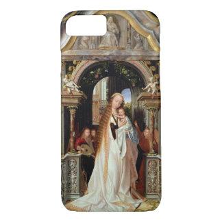 Coque iPhone 7 Vierge et enfant avec trois anges, panneau central