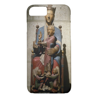 Coque iPhone 7 Vierge et enfant, (bois polychrome)