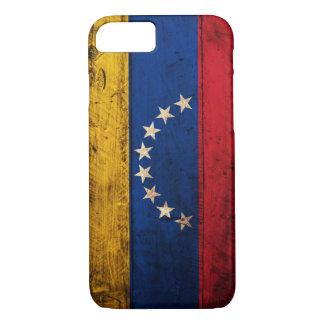 Coque iPhone 7 Vieux drapeau en bois du Venezuela