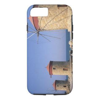 Coque iPhone 7 Vieux moulins à vent célèbres de Rhodes Grèce