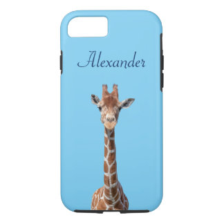 Coque iPhone 7 Visage mignon de girafe