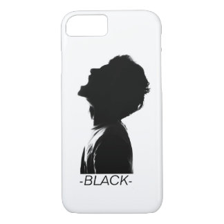 COQUE iPhone 7 VISAGE NOIR PHONE-CASE //