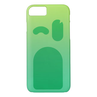 Coque iPhone 7 Visage vert PhoneCase