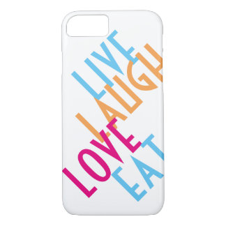 Coque iPhone 7 Vivant, rire, amour, mangez