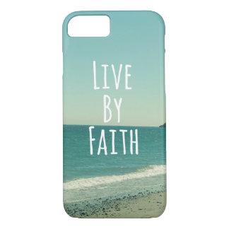 Coque iPhone 7 Vivez à côté de la foi