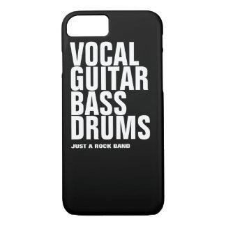 Coque iPhone 7 vocal, guitare, basse, roche de tambours…