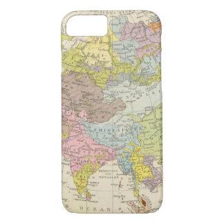 Coque iPhone 7 Volkerkarte von Asien - carte de l'Asie