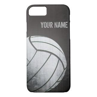 Coque iPhone 7 volleyball avec la nuance grunge de noir d'effet