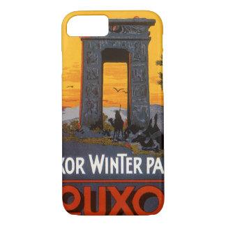 Coque iPhone 7 Voyage vintage, palais d'hiver de Louxor, Egypte