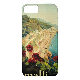 Coque iPhone 7 Voyage vintage, plage italienne de côte d'Amalfi