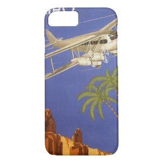 Coque iPhone 7 Voyage vintage vers le Caire, Eygpt, avion de