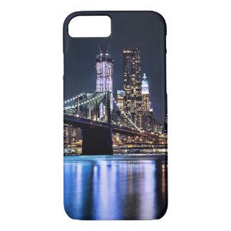 Coque iPhone 7 Vue de la réflexion de pont de Brooklyn de New