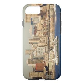 Coque iPhone 7 WA, horizon de Seattle, Seattle et Elliott aboient