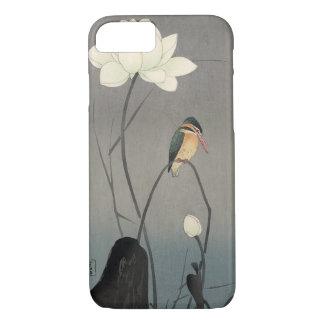 Coque iPhone 8/7 蓮にカワセミ, martin-pêcheur de 古邨 sur Lotus, Koson,