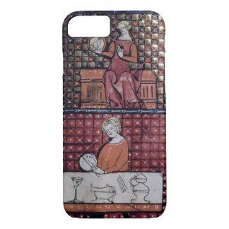 Coque iPhone 8/7 137-0011409/1 a assis la femme avec une colombe et