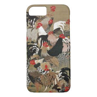 Coque iPhone 8/7 20. 群鶏図, troupeau de 若冲 des coqs, Jakuchū, art du