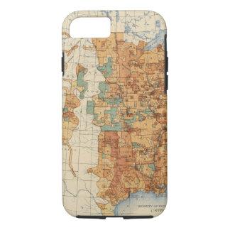 Coque iPhone 8/7 25 densités d'augmentation de la population, USA,