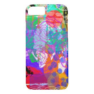 Coque iPhone 8/7 Abrégé sur rose audacieux lumineux chic peinture