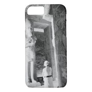 Coque iPhone 8/7 Abu Simbel Egypte, touriste à l'intérieur du