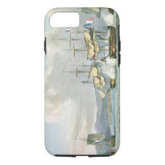 Coque iPhone 8/7 Action de frégate dans des routes de Vizagapatam,