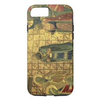 Coque iPhone 8/7 Adoration des Magi, détail d'un carreau de