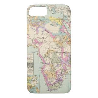 Coque iPhone 8/7 Afrika - carte d'atlas de l'Afrique