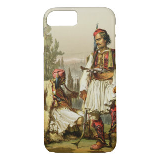 Coque iPhone 8/7 Albanais, mercenaires dans l'armée de tabouret,