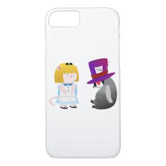Coque iPhone 8/7 Alice et chapelier
