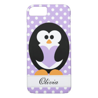Coque iPhone 8/7 Amour pourpre de pingouin